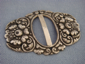19th Century Silver Slide Buckle - Floral Buckle - 800 Silver Fineness (Sold)